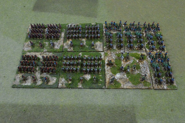 6mm Napoleon with Guard cavalry